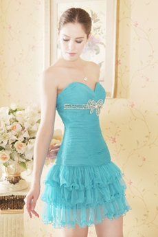 Sassy Mini Length Jade Green Quince Dress For Damas