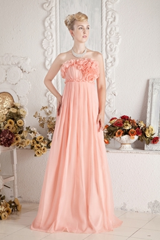 Beautiful Empire Coral Maternity Prom Dress