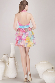 Backless Bohemian Cocktail Dress For Summer Party