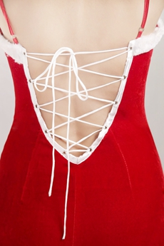 Spaghetti Straps Christmas Evening Dress