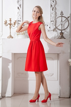 Jewel Neckline Knee Length Homecoming Dress Under 100