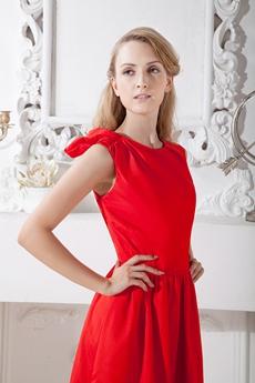Jewel Neckline Knee Length Homecoming Dress Under 100