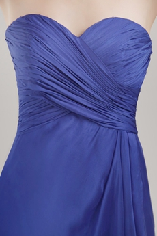 Grecian A-line Royal Blue Chiffon Bridesmaid Dress