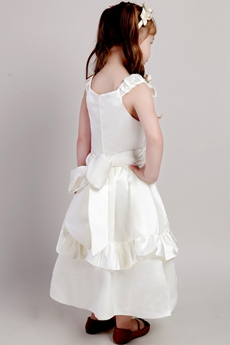 Ankle Length Infant Flower Girl Dress With Bowknot