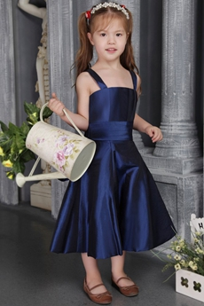 Elegant Navy Blue Flower Girl Dresses for Toddlers Cheap