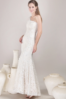 Retro 1950 Ivory Lace Wedding Dress