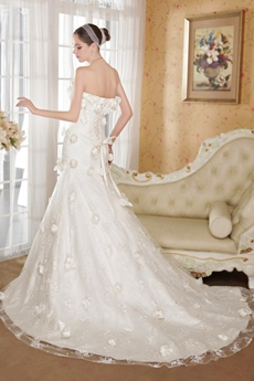 Terrific Ivory Lace Mermaid Modern Wedding Dresses