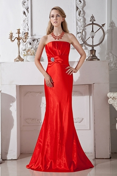 Latest Sheath Full Length Red Mother Dress