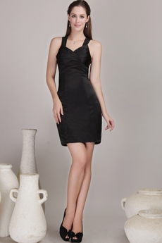Mini Length Black Bandage Dress For Nightclub