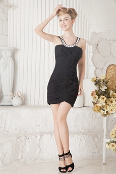 Sexy Mini Length Black Nightclub Dress