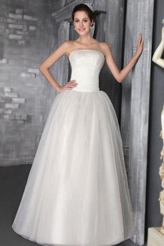 Classic Beaded Wedding Dress Corset Back