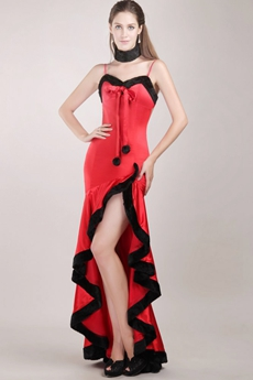 Special Spaghetti Straps Christmas Prom Party Dress