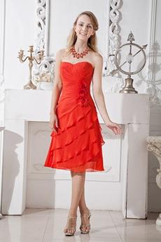 Rust Red Wedding Guest Dress