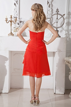Rust Red Wedding Guest Dress