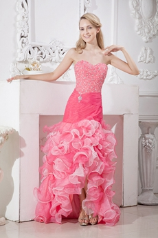 Colorful Mermaid Sweet Sixteen Dress With Ruffles
