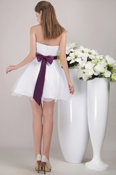 Puffy Mini Length White Sweet Sixteen Dress With Handmade Flowers