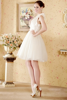 Puffy Mini Length Champagne Sweet Sixteen Dress