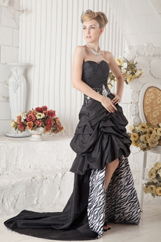 Unique Black And Zebra Sweet 16 Dress