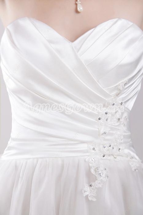 Knee Length White Beach Wedding Dress Informal