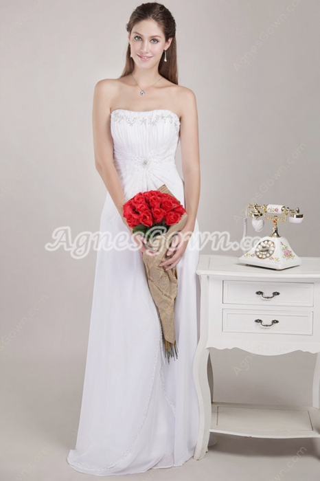 Noble Column Beach Wedding Gown