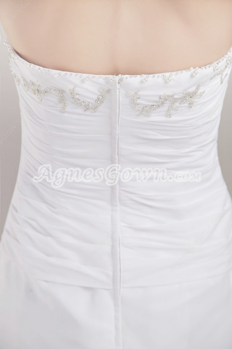 Noble Column Beach Wedding Gown