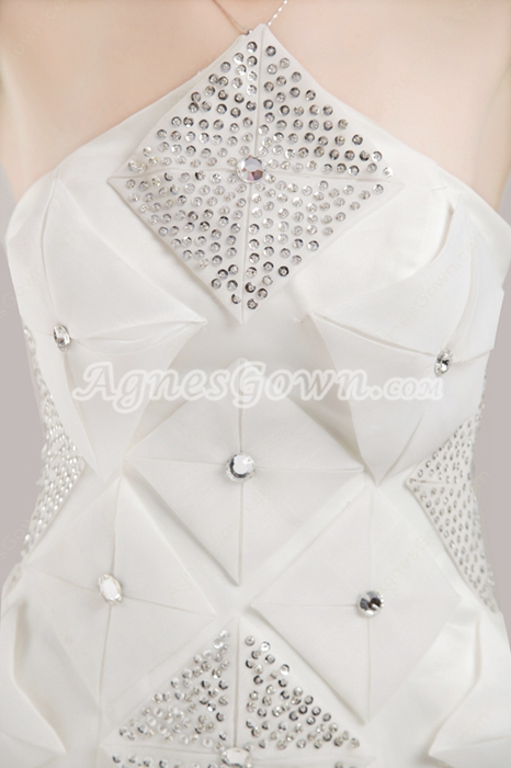 Beaded White Wedding Guest Dress