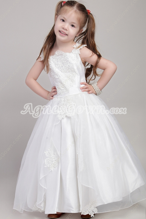 Beautiful Infant Flower Girl Dresses With Lace Appliques