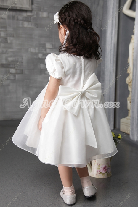 Lovely Short Sleeves Empire Flower Girl Dresses