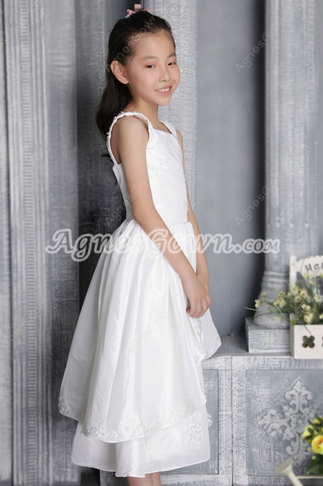 Sassy Straps Tea Length Infant Flower Girl Dress