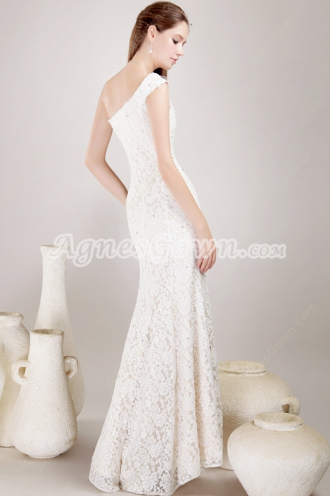 Retro 1950 Ivory Lace Wedding Dress