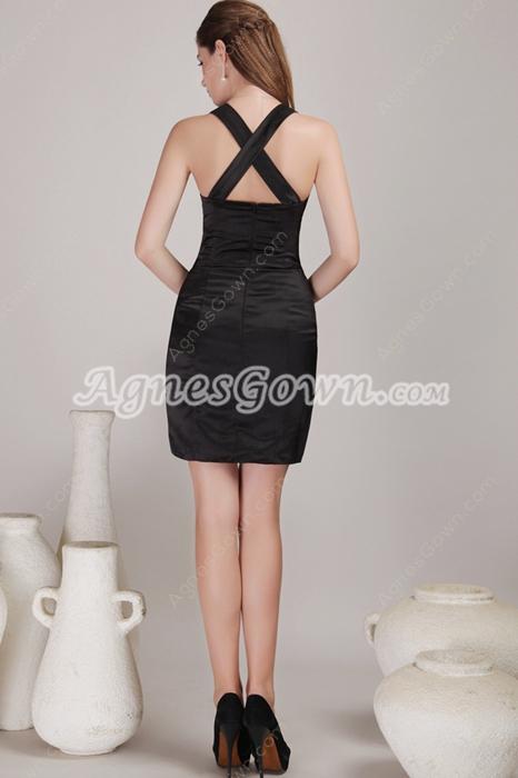 Mini Length Black Bandage Dress For Nightclub