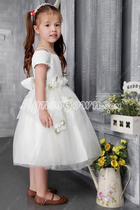 Pretty Off Shoulder Pageant Dresses For Little Girls