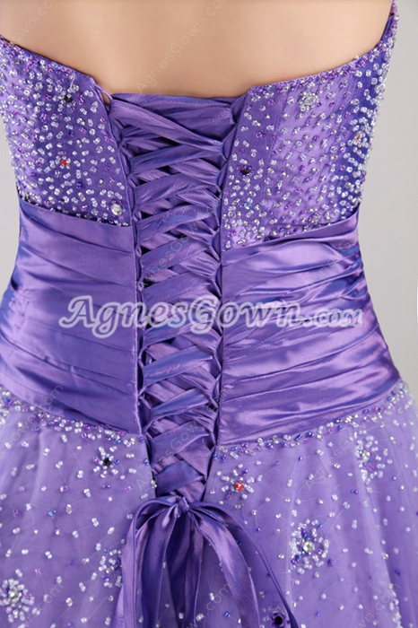 Beautiful Lavender Military Ball Dresses With Beads
