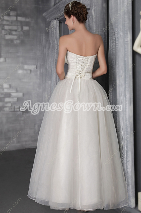 Classic Beaded Wedding Dress Corset Back