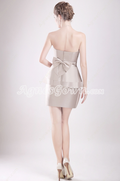 Special Mini Length Champagne Wedding Guest Dress
