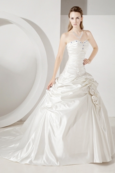 Cinderella Satin Ball Gown Wedding Dresses