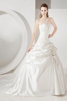 Cinderella Satin Ball Gown Wedding Dresses