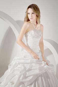 Magnificent White Taffeta Wedding Dress 2016