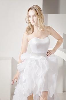 Unique Sweetheart High Low Beach Wedding Dress