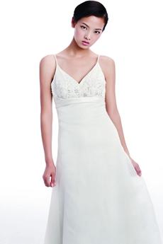 Greek V-Neckline Beach Wedding Dress