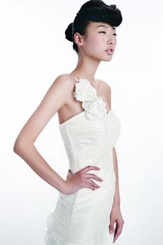 Qualified One Straps Simple Satin Wedding Dress