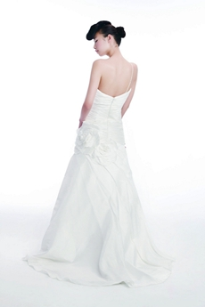 Qualified One Straps Simple Satin Wedding Dress