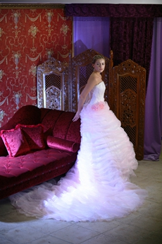 Dramatic Celebrity Wedding Dresses With Big Train