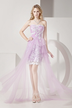 Best Lilac High Low Homecoming Dress