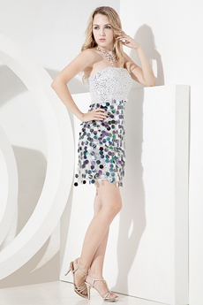Lovely Silver Homecoming Dresses With Sequins