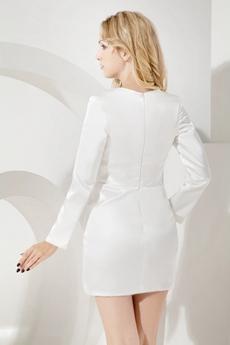 Modest Long Sleeves Little White Dress