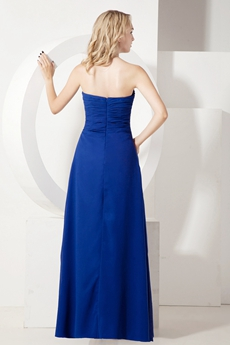 Grecian Empire Waist Royal Blue Chiffon Maternity Bridesmaid Dress