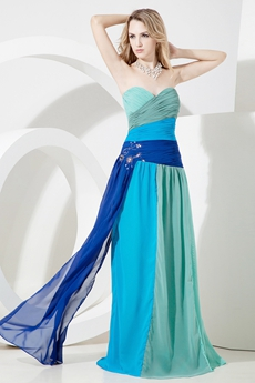 Unique Colorful Chiffon Long Maxi Dresses