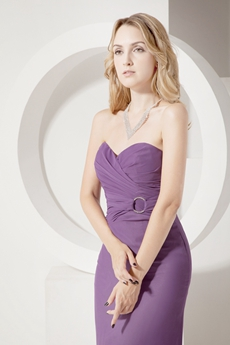 Pretty Sheath Chiffon Lavender Evening Dresses
