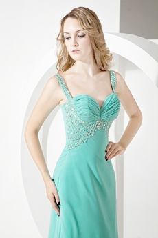 Noble A-line Long Formal Evening Dresses with Brush Train